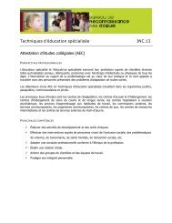 Techniques d'éducation spécialisée JNC.13 Attestation d'études ...