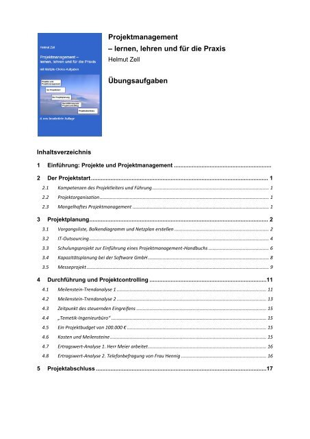 Projektmanagement – lernen, lehren und für die Praxis ...