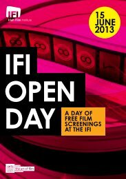 Download the full Open Day programme - Irish Film Institute