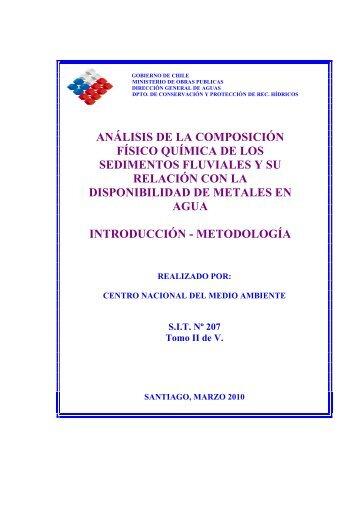 análisis de la composición físico química de los sedimentos fluviales ...