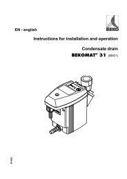 BEKO Membranen für Bekomat 20-20 FM 2000496 21-21 PRO