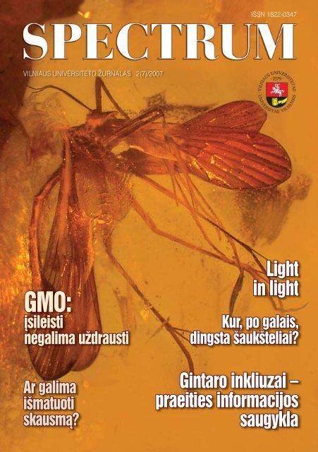 Spectrum Nr. 2(7)/2007 - VU naujienos - Vilniaus universitetas