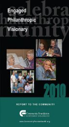 2010 Annual Report - Community Foundation of Northern Colorado