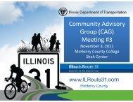 Community Advisory Group (CAG) Meeting #3 - Illinois Route 31
