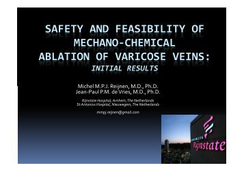 safety and feasibility of mechano-chemical ablation ... - 1A Medical AG