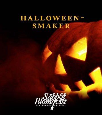 Halloweensmaker - Säbb & Blomqvist Catering