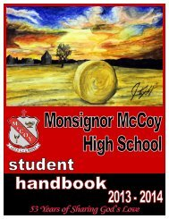 Student Handbook 2013-2014 - McCoy High School