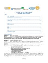 Concur Travel and Expense - Pacific Oaks College