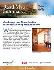 Road Map Summary - Value to Wood Program