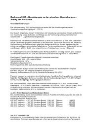 Rechnung 2010 - Kommentar