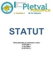 Statut klubu - MKS Płetval Polkowice