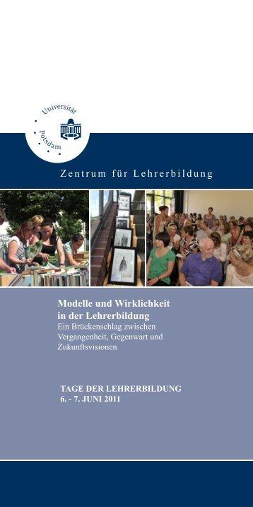 Flyer Tage der Lehrerbildung 2011 in Potsdam - Zentrum für ...