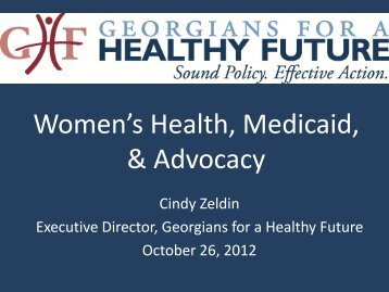 Women's Health, Medicaid, & Advocacy - Georgians for a Healthy ...