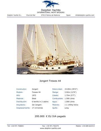 Jongert Trewes 44 295.000 € EU IVA pagado - Dolphin Yachts