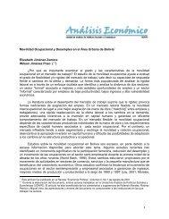 1 Movilidad Ocupacional y Desempleo en el Área Urbana de Bolivia ...