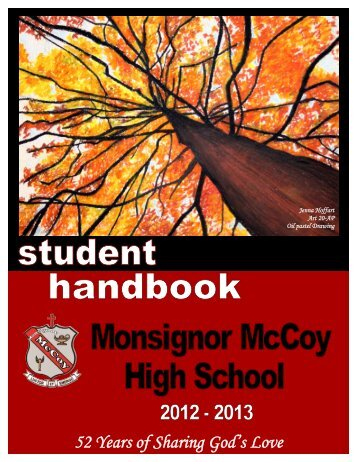 Student Handbook 2013 - McCoy High School