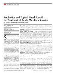 Antibiotics and Topical Nasal Steroid for Treatment of Acute ...