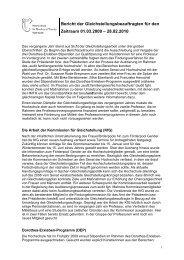 Tätigkeitsbericht Studienjahr 2009-10 - Gleichstellungsbüro