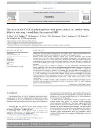 The association of AGT2R polymorphisms with ... - MedSciNet