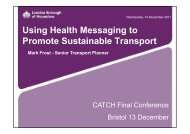 Using Health Messaging to Promote Sustainable Transport - catch