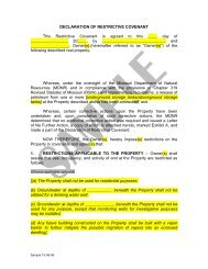 DECLARATION OF RESTRICTIVE COVENANT This Restrictive ...