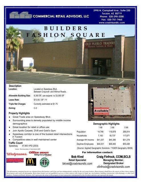 Builders Fashion Center 4-9-07.pub - Commercial Retail Advisors ...