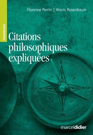 Citations philosophiques expliquées - Les Éditions Marcel Didier
