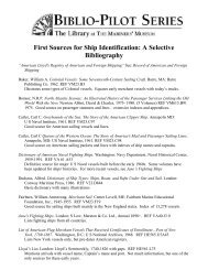 First Sources for Ship Identification: A Selective Bibliography