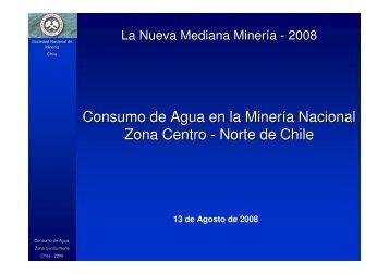 Consumo de Agua en la Minería Nacional Zona Centro - Norte de ...