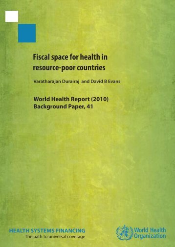 Fiscal space for health in resource-poor countries - World Health ...