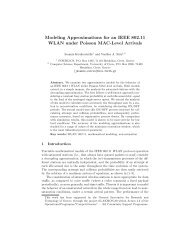 Modeling Approximations for an IEEE 802.11 WLAN under Poisson ...