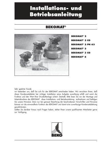 BEKOMAT 2,3,6_de.pm6 - BEKO TECHNOLOGIES GmbH