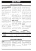 BEKOMAT 2,3,6_de.pm6 - BEKO TECHNOLOGIES GmbH - Seite 4