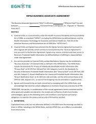 Download Egnyte HIPAA Business Associate Agreement