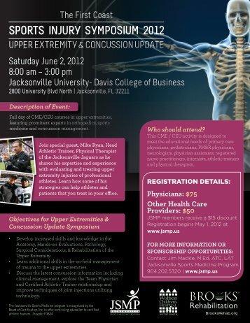SportS Injury SympoSIum 2012 - Jacksonville Sports Medicine ...