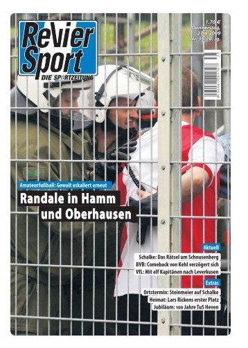 Randale in Hamm und Oberhausen