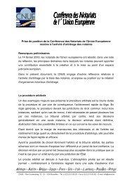 Prise de position de la Conférence des Notariats de l'Union ... - CNUE