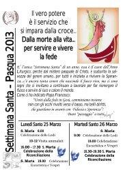 Avvisi Settimana Santa.pdf - Parrocchia di S. Maria Madre della ...