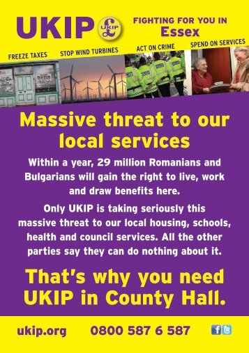 Massive threat to our local services That鈥檚 why you need UKIP in ...