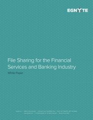 File Sharing for the Financial Services and Banking Industry - Egnyte