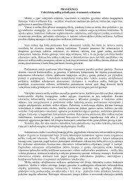 Pranešimas - Generalinė miškų urėdija