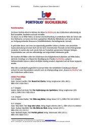 portfolio jugendbuch - Buchliebling.com