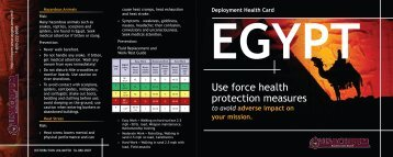 Use force health protection measures - U.S. Army Public Health ...
