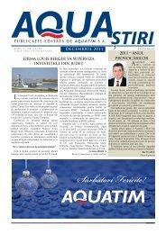 AQUA Ştiri nr. 12 (28) / decembrie 2011 - Aquatim