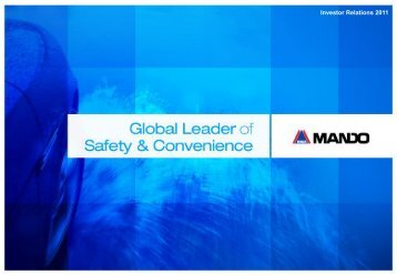 Global Leader of Safety & Convenience