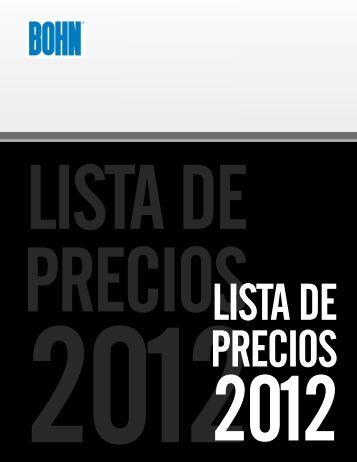 lista de precios 2012 1 - Bohn