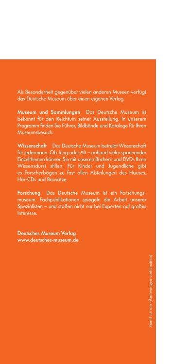 Verlagsprogramm - Deutsches Museum