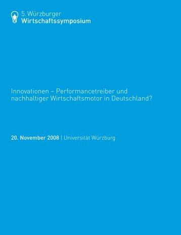 5. Würzburger Wirtschaftssymposium Innovationen ... - First Value AG