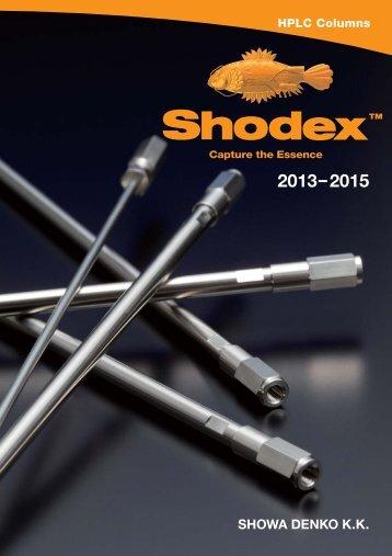 Shodex Catalogue 2013-2015.pdf - Analytics Shop