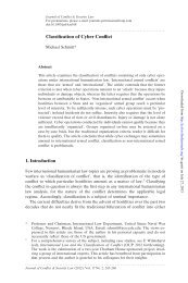Classification of Cyber Conflict - Journal of Conflict and Security Law